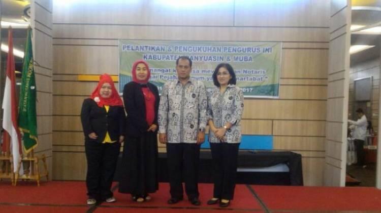 Mardaliani-Liberto Dikukuhkan Pimpin Ikatan Notaris Indonesia Muba dan Banyuasin